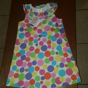 Hannah Anderson colorful polka dot dress